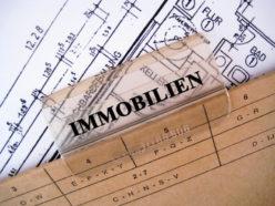 Hängeregister mit Immobilienbeschriftung