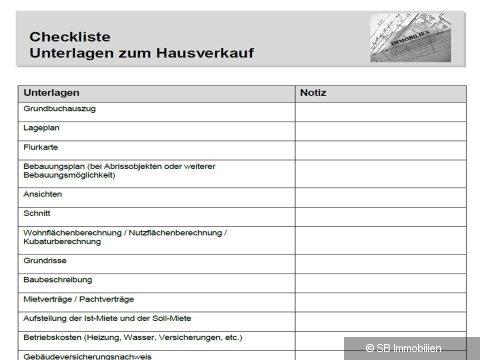 Checkliste Hausverkauf | SB Immobilien