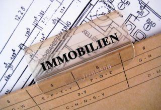 Hängeregister mit der Beschriftung Immobilien