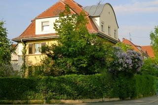 Villa mit Hecke